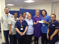 Donation to Macmillan Brook Unit, QEH