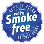 Smoke Free Logo: Let's Be Clear we're smoke free at this Trust