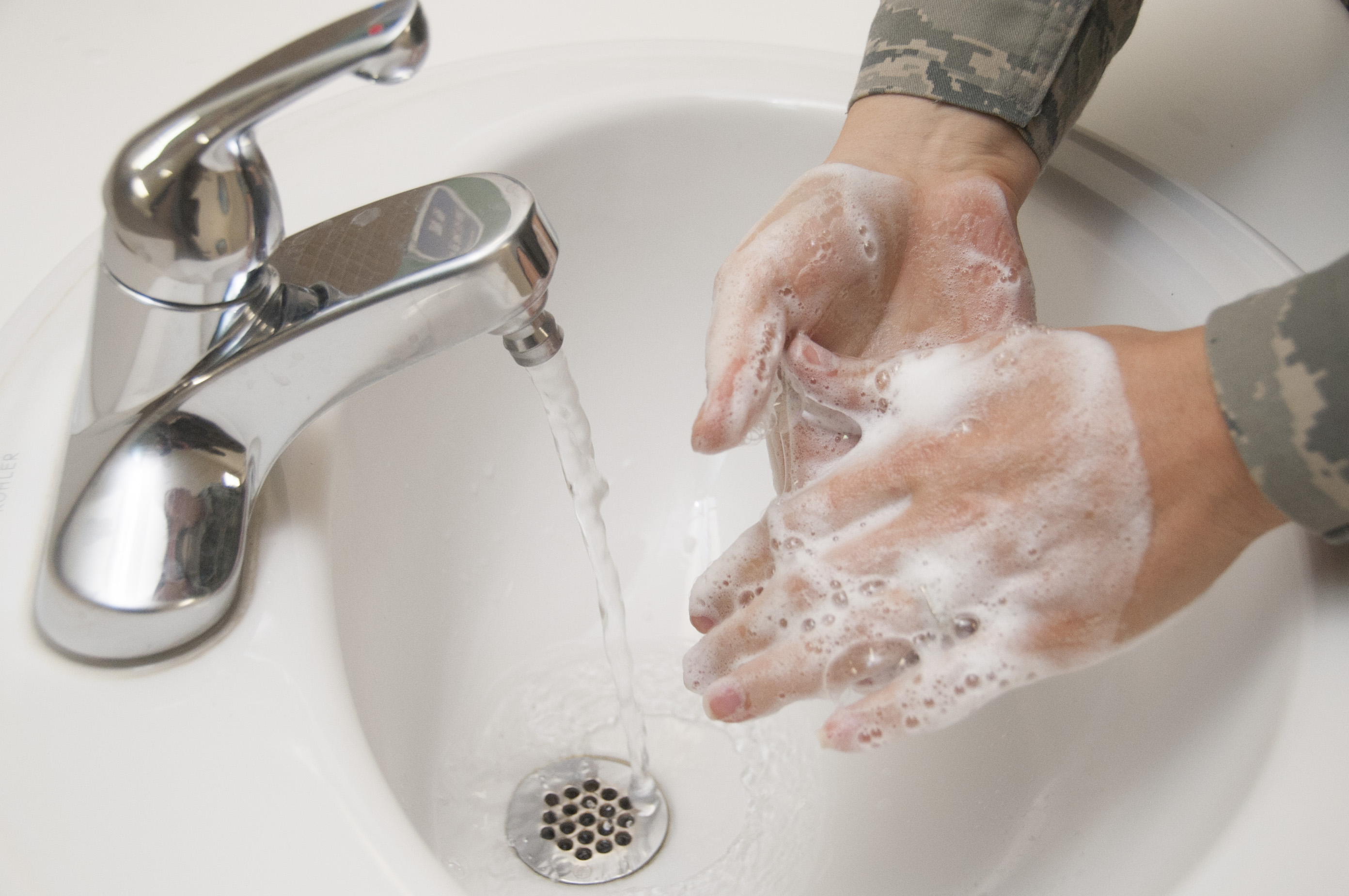 Handwashing with soap