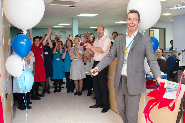 Ben Travis opening day care unit QEH