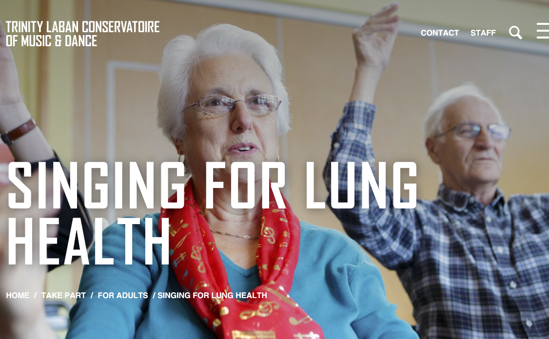Singing for lung health sessions