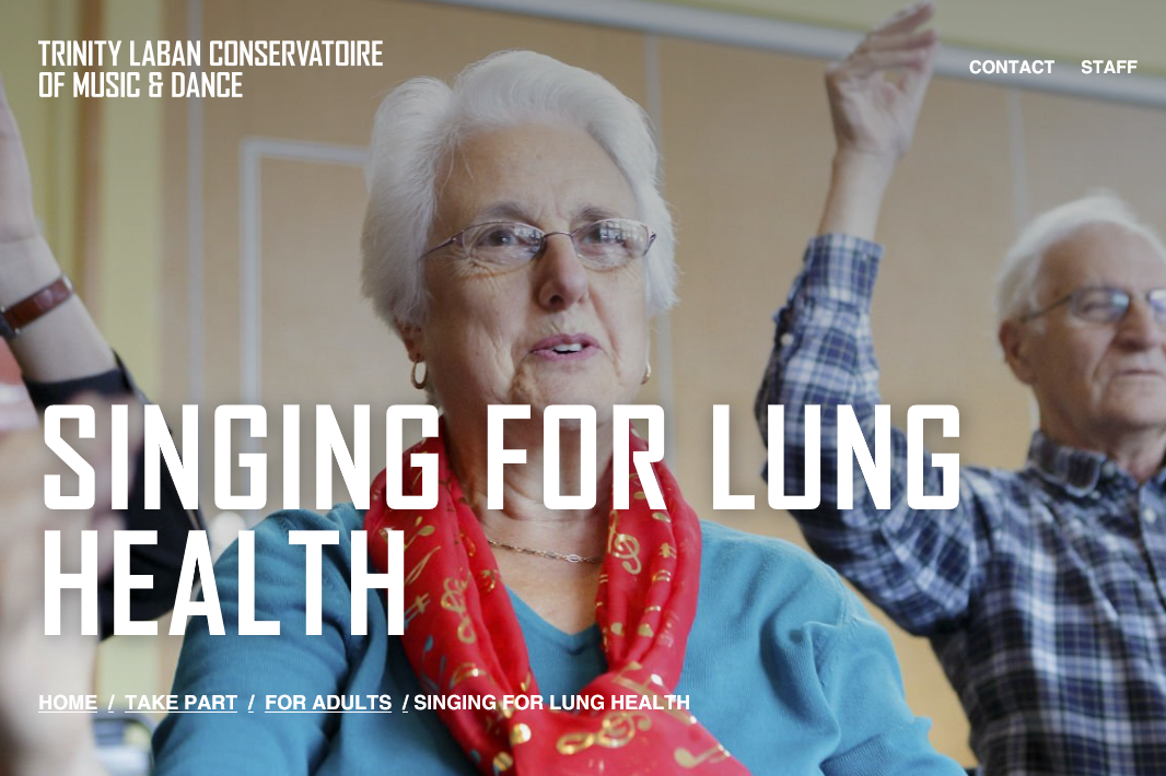 singing for lung health