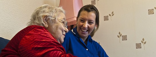 Disabled patient and community nurse