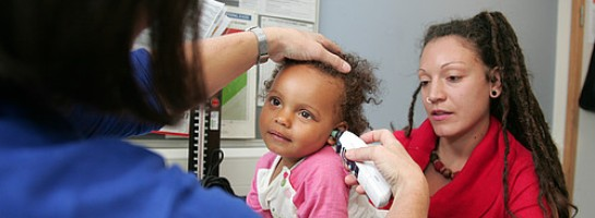 Child being assessed
