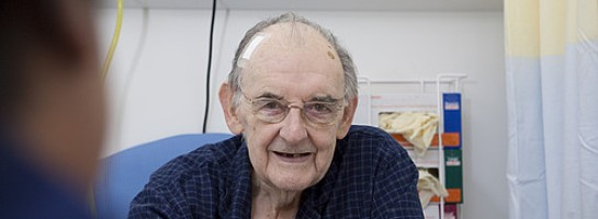 Elderly gentleman on ward